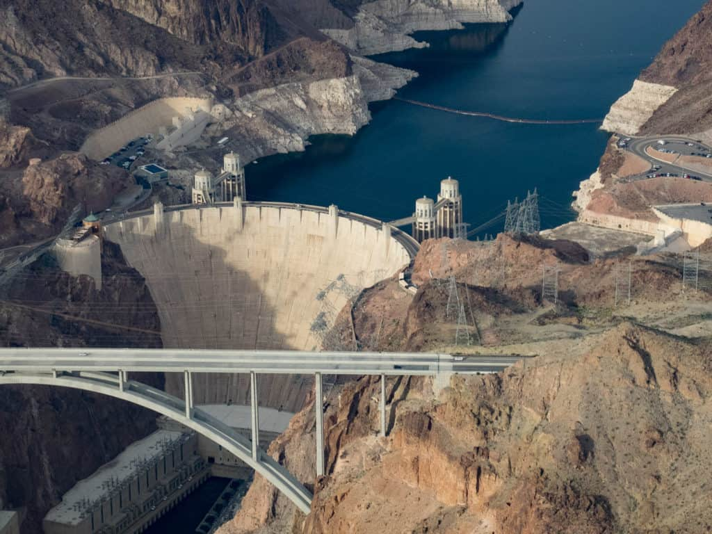 Hoover Dam from a helicopter